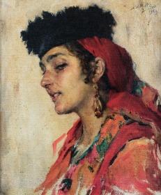 Camponesa de Figueiró, 1926, Oil on canvas, 34x27 cm