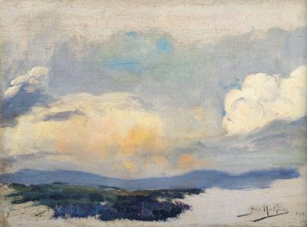 Landscape, 1916, Oil on canvas, 15.5x21.5 cm
