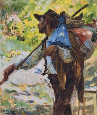 O Emigrante, 1918, Oil on canvas, 57x49 cm
