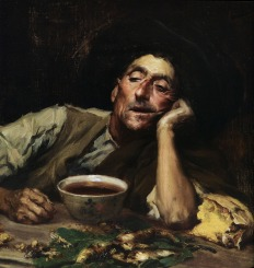 Pensando no caso, 1904, Oil on canvas, 41.5x49 cm