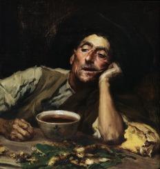 Pensando no caso, 1904, Oil on canvas, 41.5x49 cm