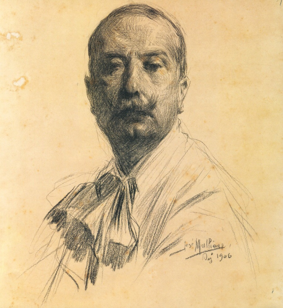 Self-portrait, 1906, Charcoal on paper, 1906