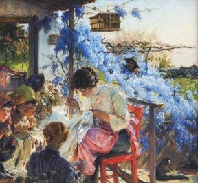 Varanda dos Rouxinóis, 1914, Oil on canvas, 126x147 cm